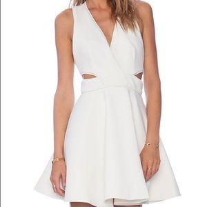 Keepsake Ivory Lonely Lover Scuba Dress Size Small